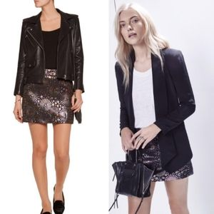 NEW Rebecca Minkoff Reims Metallic Mini Skirt